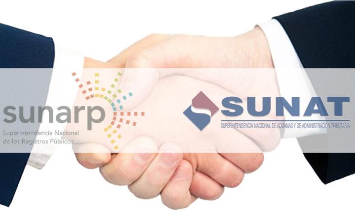 Convenio entre Sunat y Sunarp
