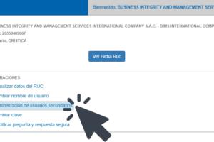 Configurar Usuario Secundario en la SUNAT para la Facturación Electrónica